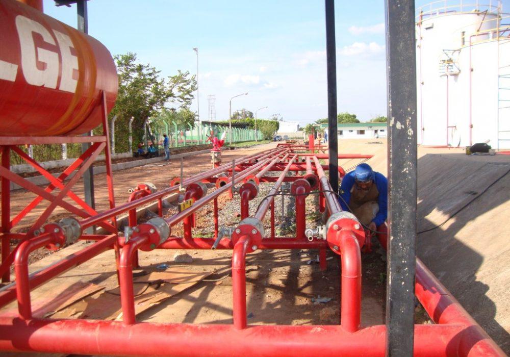 f site cladeiraria fabricação e montagem linha hidrante
