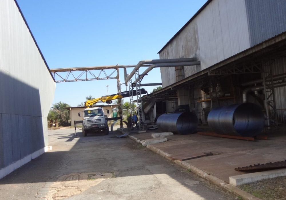 f site fabricção e montagem chamine caldeira